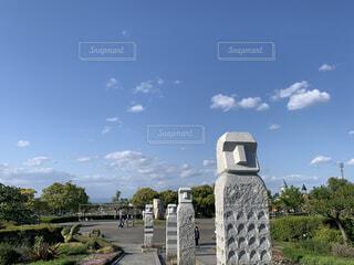 公園の彫像の写真・画像素材[4521041]