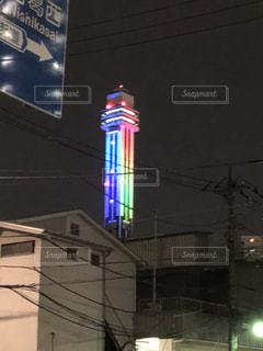 東京2020の2年前記念ライトアップ@タワーホール船堀の写真・画像素材[2357291]