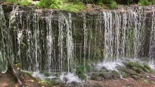自然,風景,秋,屋外,川,水面,滝,岩,軽井沢,白糸の滝