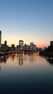 天満橋の夕陽の写真・画像素材[1301594]