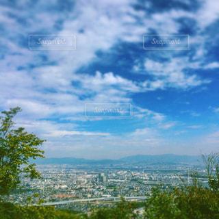 奥の山展望広場から望む長岡京。の写真・画像素材[1408252]