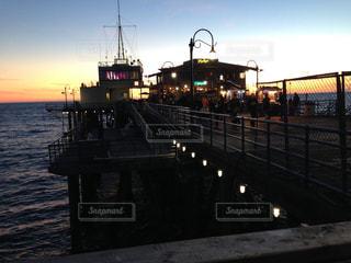 風景,海,夜景,夕暮れ,観光地,桟橋,ロサンゼルス,デート
