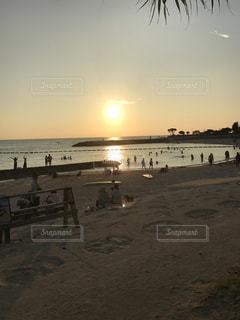 海,ビーチ,砂浜,沖縄,サンセットビーチ