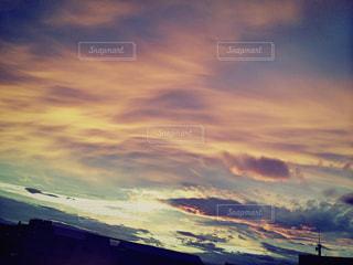 空,夕日,夕暮れ,夕空,台風一過
