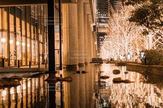 夜景,屋外,水面,反射,都会,リフレクション,夜カフェ,都会の夜景,グランフロント大阪,シャンパンゴールド