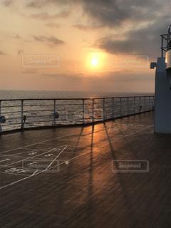 夕暮れ,船,船旅