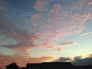 空,雲,夕焼け,夕方,うろこ雲,秋の空