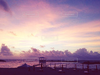 夕日,beach,sunset,マジックアワー,グラデーション,夏の日
