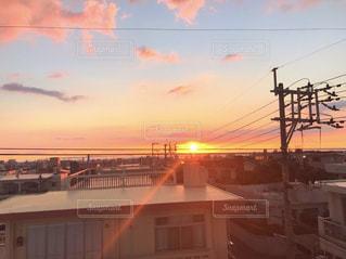 空,夕日,沖縄,オレンジ