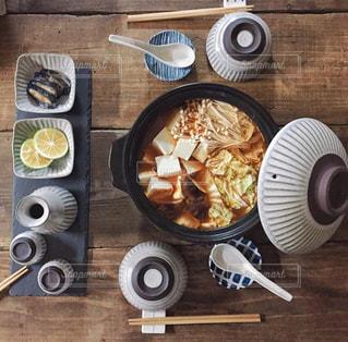 秋,食卓,鍋,料理,器,キムチ鍋,土鍋,食欲