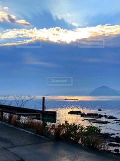 自然,風景,海,空,屋外,太陽,朝日,雲,海岸,光,朝,眺め