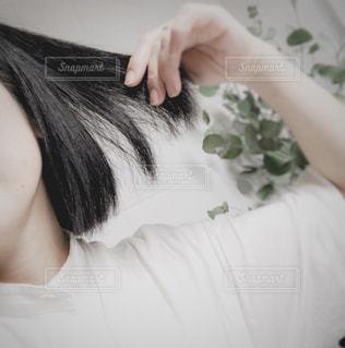黒髪の写真・画像素材[3235466]