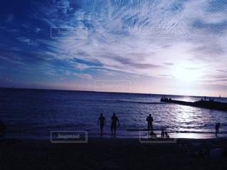 風景,海,夕日,ハワイ,Hawaii,beach,sunset