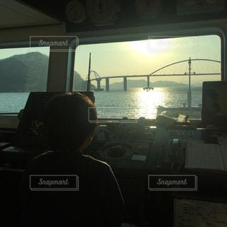 風景,海,夕焼け,未来,瀬戸内海,船長,航海中