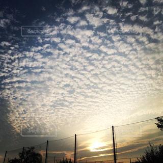 空,夕日,夕焼け,羊雲