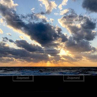 自然,海,空,雲,夕暮れ,海岸,北海道