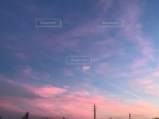 夕日,雲,ハート雲