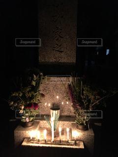 お盆のお墓参りの写真・画像素材[1433518]