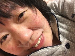 すっぴん顔の写真・画像素材[2055587]