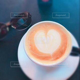 カフェ,ハート,カップ,ラテアート,カフェオレ,ドリンク,マーク,コーヒー カップ