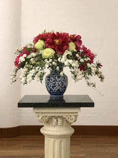 風格ある牡丹の花の写真・画像素材[2023159]