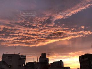空,夕日,東京,雲