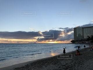 海,夕日,夕暮れ,ハワイの夕日