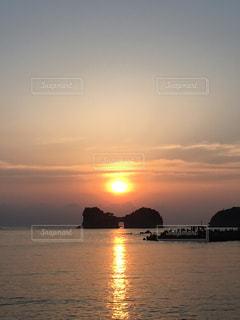 自然,海,空,太陽,夕陽,和歌山,白浜,円月島
