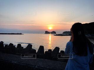 自然,海,空,夕日,きれい,夕暮れ,夕陽,和歌山,白浜,おでかけ,円月島