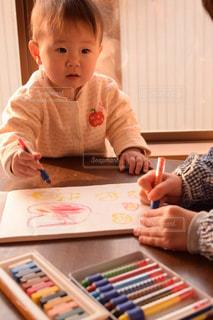 子ども,ハート,ふたり,幼児,遊び,勉強,姉妹,色,お絵かき