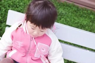ピンク,ベンチ,女の子,リボン,pink