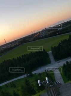 夕暮れ時のモエレ沼公園の写真・画像素材[1426887]