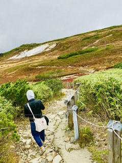 女性,秋,北海道,山,景色,ポジティブ,山登り,目標