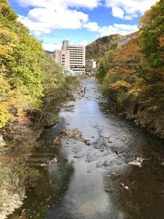 自然,秋,紅葉,川,北海道,札幌市,フォトジェニック,定山渓温泉