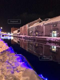 冬の小樽運河の写真・画像素材[1780683]