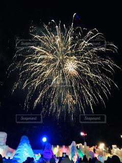 氷瀑祭り花火大会の写真・画像素材[1784243]