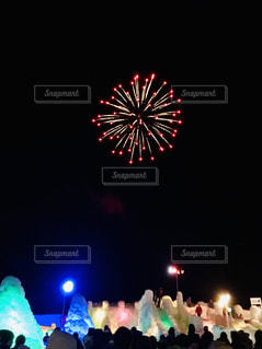 支笏湖氷瀑祭りの写真・画像素材[1785266]