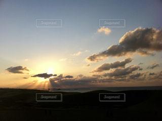 自然,空,夕日,屋外,雲,旅行,鳥取砂丘