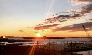 自然,空,夕日,ニューヨーク,屋外,太陽,雲,夕暮れ,旅行,ブルックリン,ダンボ