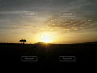 自然,風景,空,夕日,太陽,雲,夕暮れ,旅行,アフリカ,ケニア,マサイマラ