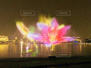 夏,ピンク,アート,旅行,シンガポール,噴水,プロジェクションマッピング,涼む,暑さ対策