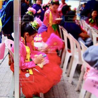 群衆,屋外,ピンク,カラフル,鮮やか,人物,人,pink