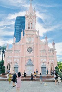 ピンクの教会の写真・画像素材[1443216]