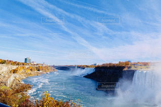 ナイアガラの滝 全景の写真・画像素材[1448256]
