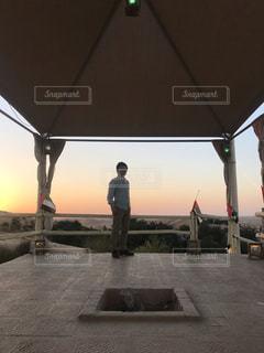 砂漠の展望台からの写真・画像素材[1703260]