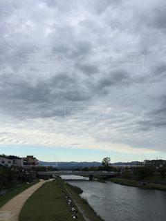 空,秋,鴨川