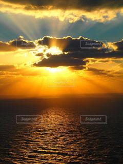 自然,海,夕日,雲,夕暮れ,sunset