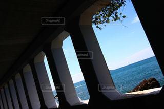 旧道トンネルから見える海の写真・画像素材[1345854]
