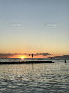 空,夕日,ハワイ,オアフ島