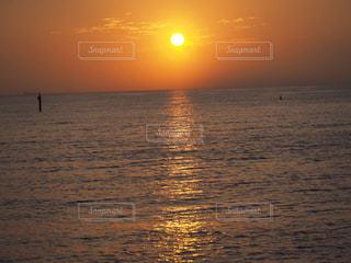 海,夕日,太陽